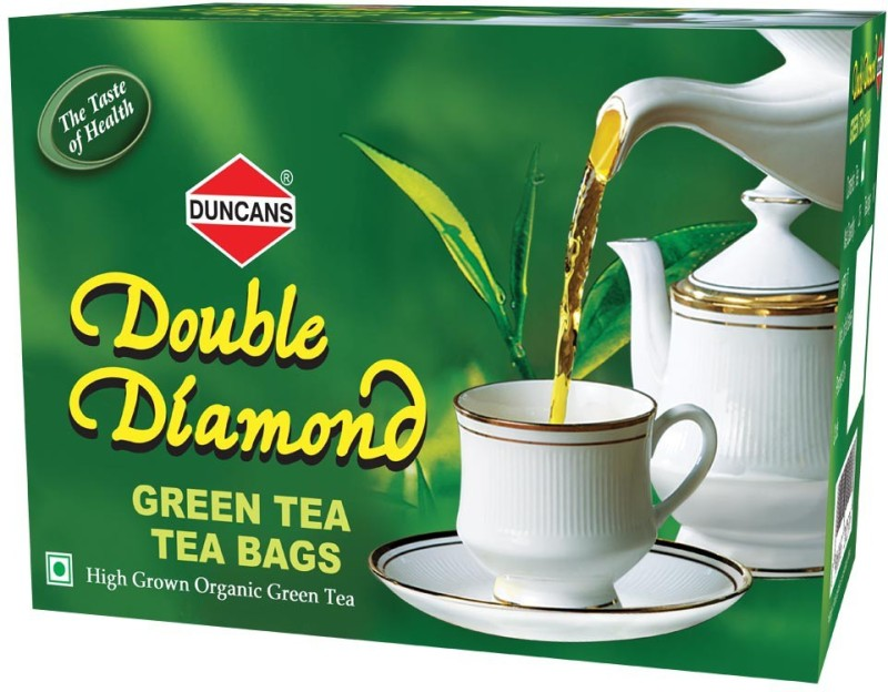 Duncans Double Diamond -Pack of 5 Green Tea Bags(125 Bags, Box)