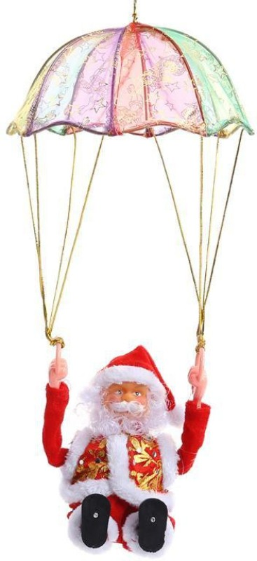 A To Z Traders Singing Parachute Santaclause Hanging Ornaments(Pack of 1)