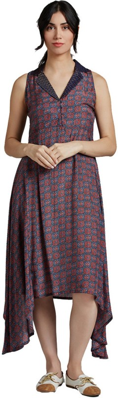 Jaipur Kurti Women Maxi Multicolor Dress