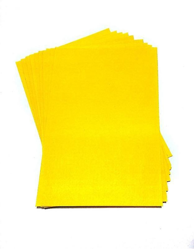 SelectionWorld Art & Craft Felt Papers (Pack Of 10, Yellow) Felt Sheet(21 cm x 30 cm)