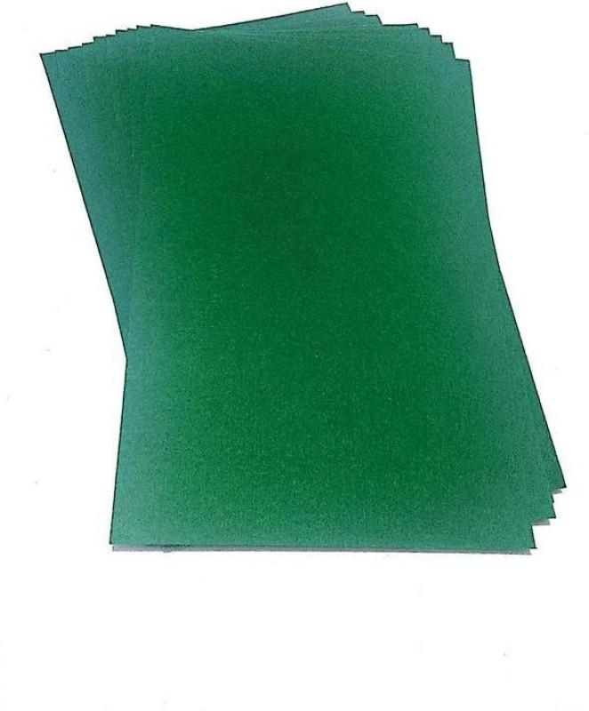 SelectionWorld Art & Craft Felt Papers (Pack Of 10, Green) Felt Sheet(21 cm x 30 cm)