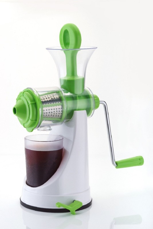 ZooY Advance Unbreakable Fruit & Vegetable Plastic, Stainless Steel Hand Juicer(Green, White Pack of 1)