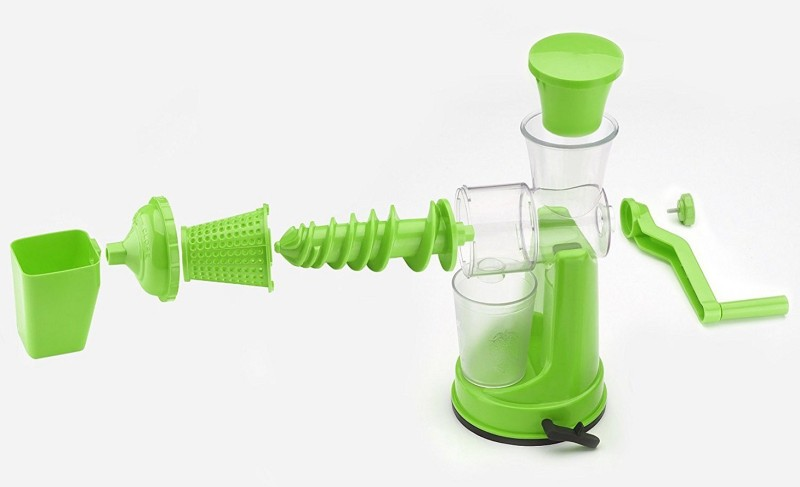 ZooY Smart Fruit & Vegetable Hand Juicer with Waste Collector Plastic Hand Juicer(Green Pack of 1)