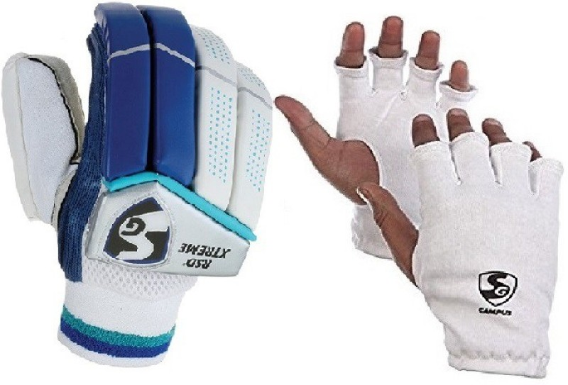 SG Combo Of Two ,One Pair Of Rsd Xtreme (Light Weight) batting Gloves And One Pair Of Campus Inner Gloves (Youth) (Color On Availability)- Cricket Kit