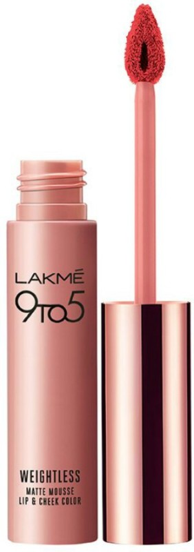 Lakme 9 to 5 Weightless Matte Mousse Lip and Cheek Color(9 g, Scarlet Plume)
