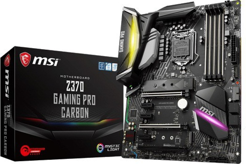 MSI Z370 GAMING PRO CARBON Motherboard(Black)