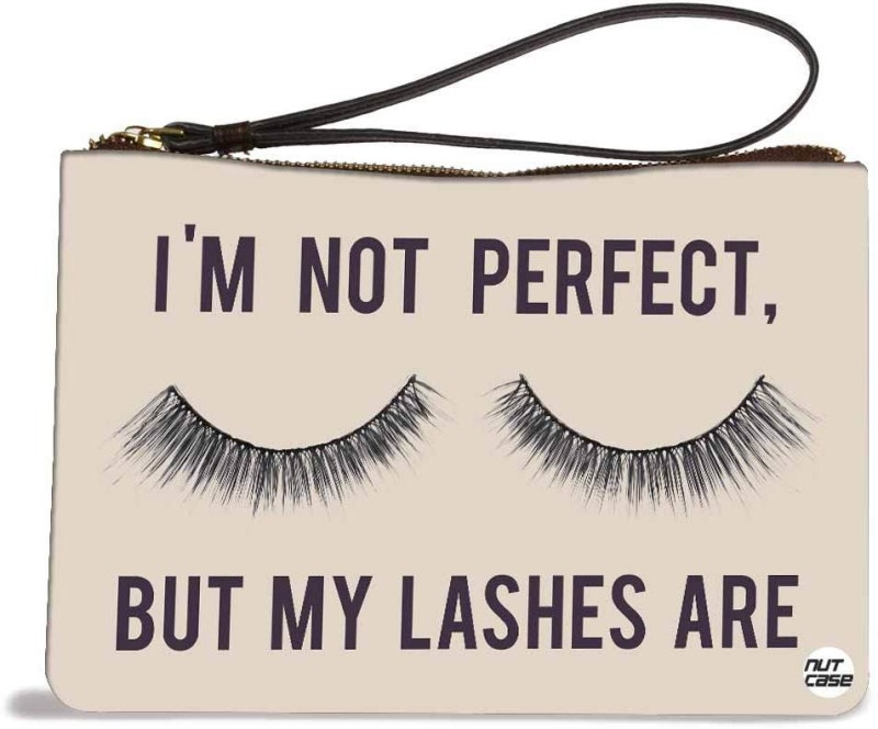 Nutcaseshop I Am Not Perfect Pouch(Multicolor)