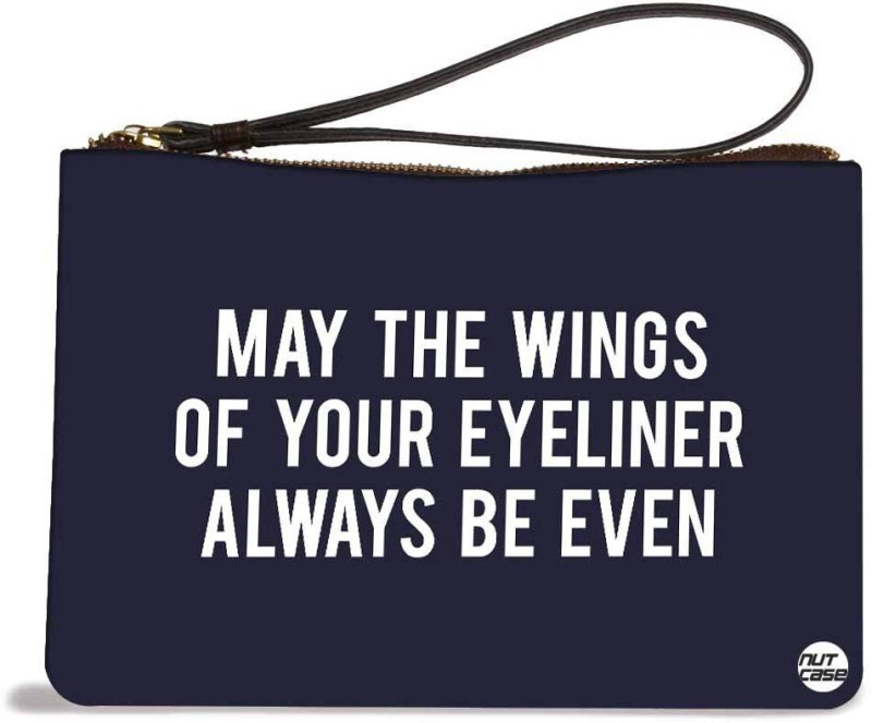 Nutcaseshop Wings Of Your Eyeliner Pouch(Multicolor)