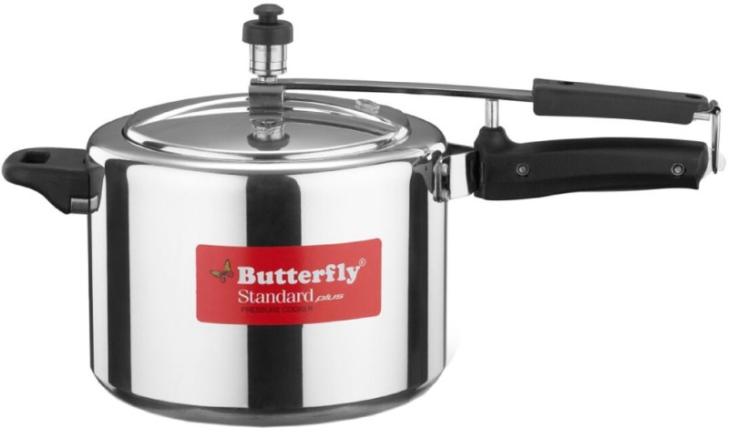 Butterfly Standard Plus 5 L Pressure Cooker with Induction Bottom(Aluminium)