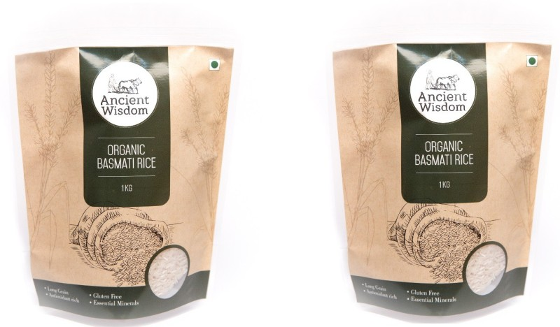 Ancient Wisdom Organic Basmati RIce White Pack of 2 x 1 KG White Basmati Rice(2 kg)