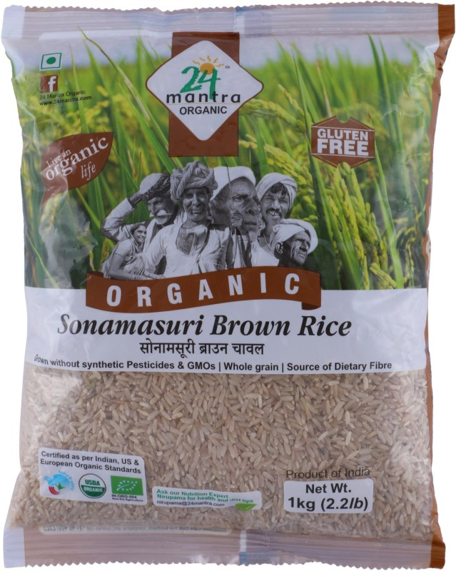 24 Mantra Organic Brown Sona Masoori Rice(1 kg)