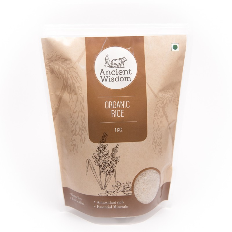 ancient wisdom White Sonamasuri RIce White Sona Masoori Rice(1 kg)