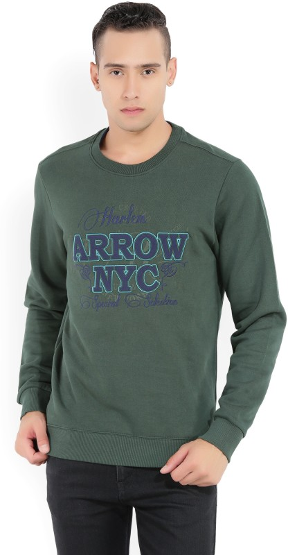 Arrow Sport Full Sleeve Embellished Mens Sweatshirt