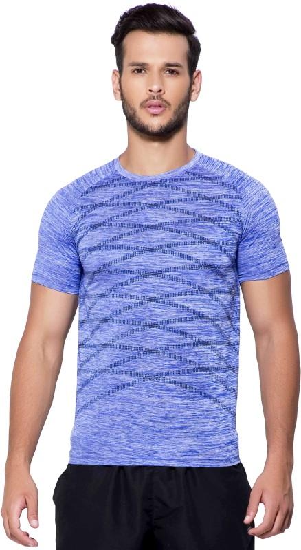 Maniac Solid Men's Round Neck Blue, Black T-Shirt
