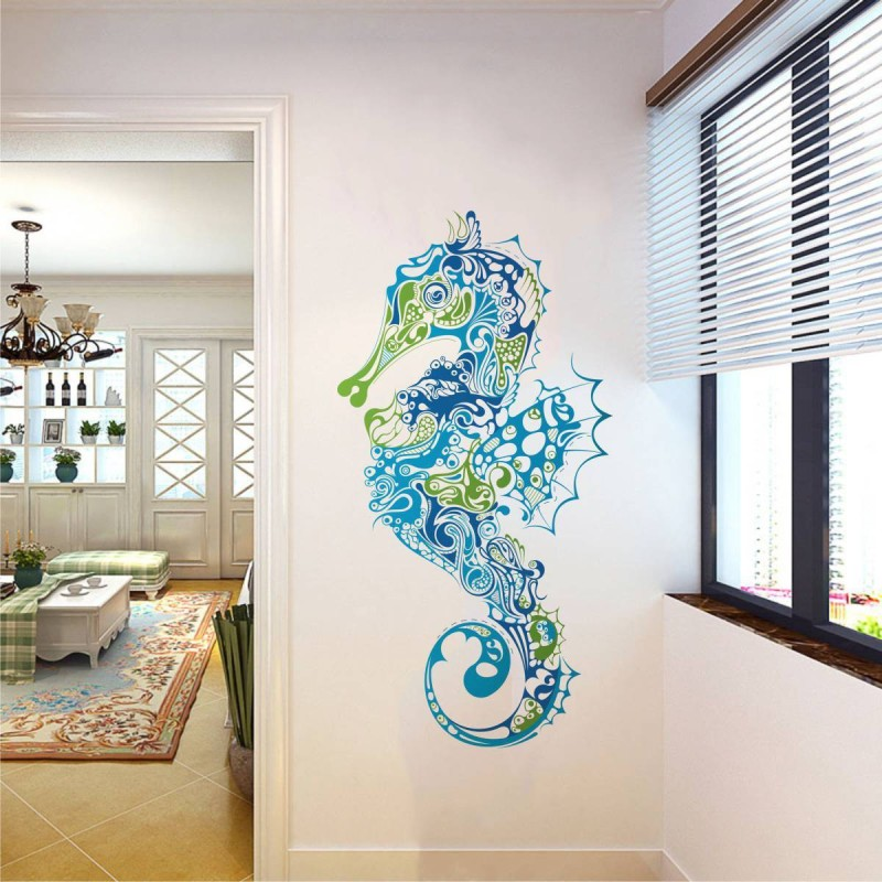 Rawpockets Sea Horse Decorative(110 cm X cm 55, Multicolor)