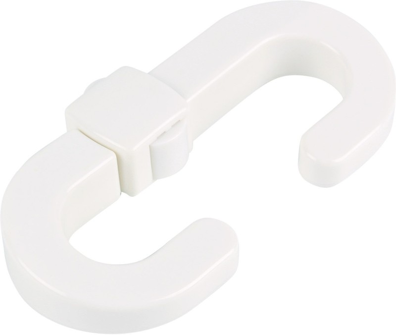 HOKIPO Child Safety Sliding Lock For Cabinet & Cupboard Doors, Set Of 2 Child Safety Slide Lock(White)