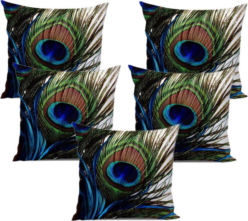 Dream Weaverz 3D Printed Cushions Cover(Pack of 5, 40 cm*40 cm, Green,...