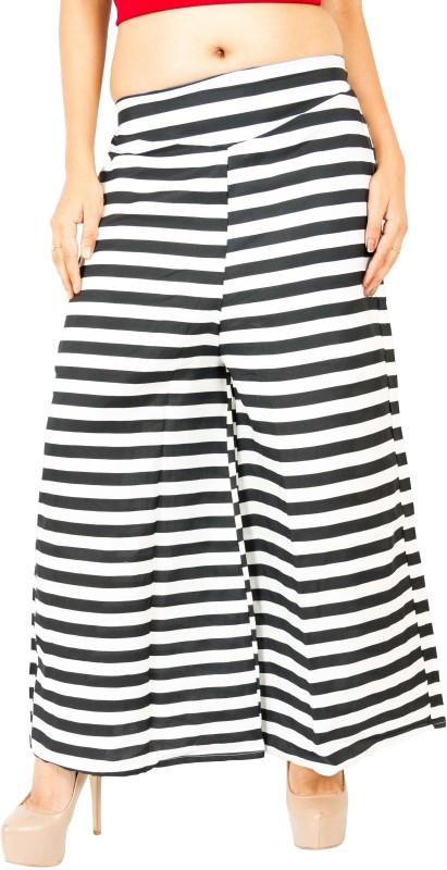 Emeros Regular Fit Women's Black, White Trousers