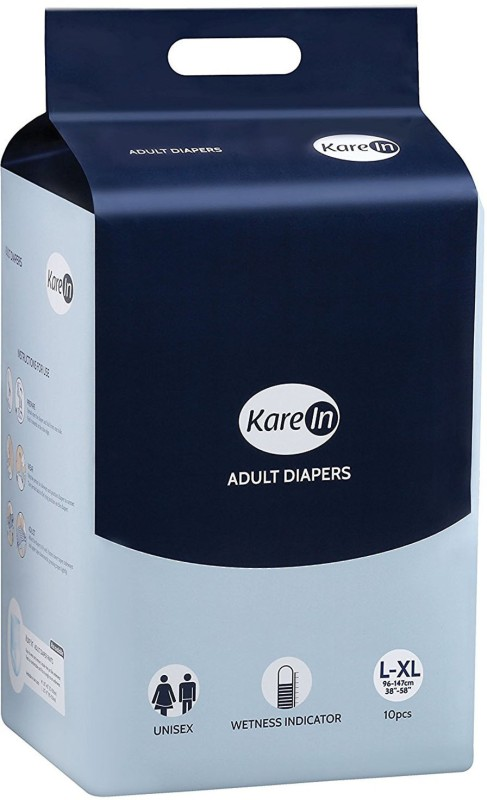 Karein FOR WAIST SIZE 38-58 Adult Diapers - L(10 Pieces)