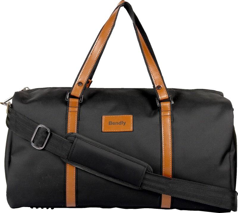 Bendly Informal Black Travel Duffel Bag(Black)
