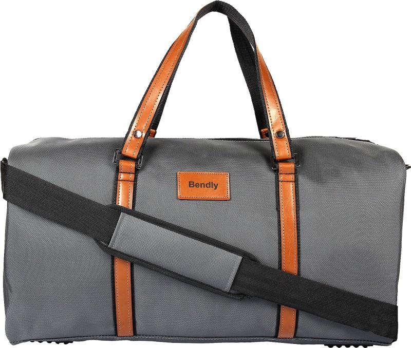 Bendly Informal Grey Travel Duffel Bag(Grey)