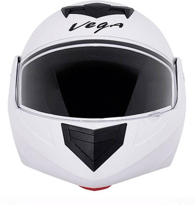 VEGA Crux Dashing Flipup Fiber ISI Certified Motorsports Helmet White Motorbike Helmet(CRUX WHITE)