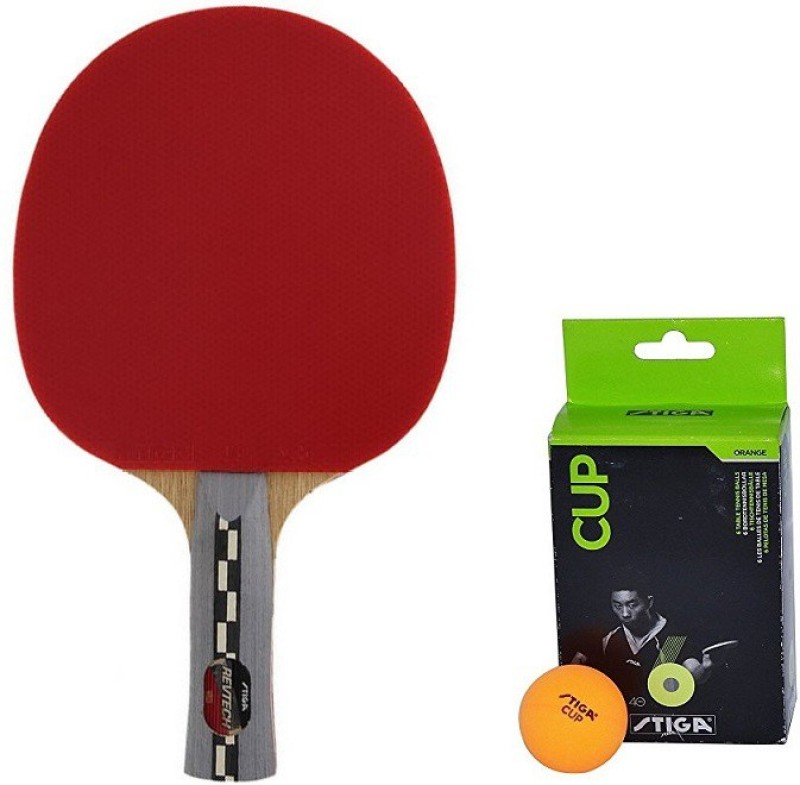 Stiga Combo of Two , One Revtech Table Tennis Racquet and One Cup Ping Pong Ball Box- Table Tennis Kit