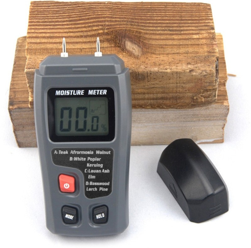 VTech 0-99.9% Two Pins Digital Wood Moisture Meter Humidity Tester Timber Damp Detector digital moisture meter for wood digital Pin-Type Digital Moisture Measurer(10 mm)