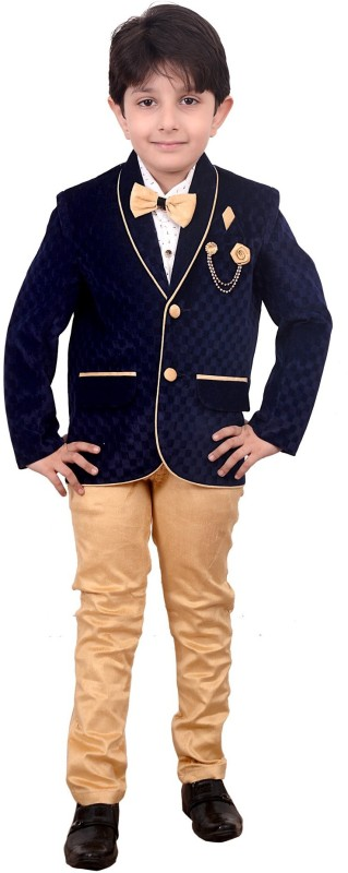 Arshia Fashions Single Breasted Solid Boys Suit