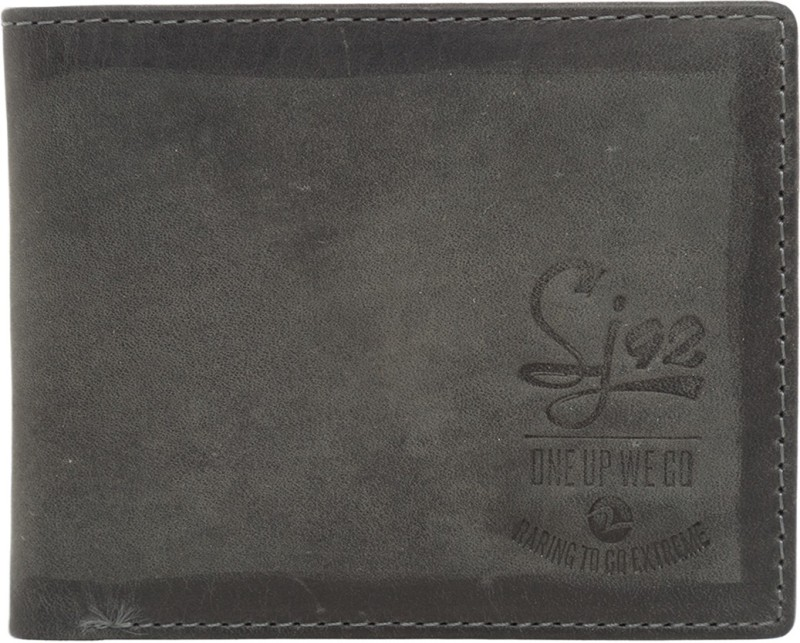 Spykar Men Grey Genuine Leather Wallet(4 Card Slots)