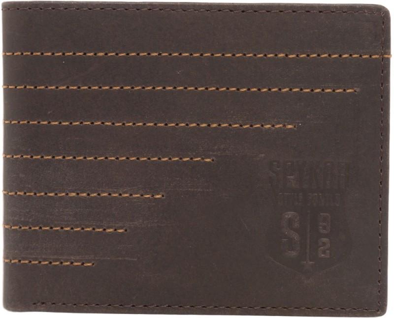 Spykar Men Brown Genuine Leather Wallet(12 Card Slots)