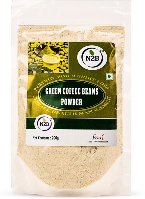 N2B GREEN COFFEE BEANS POWDER 200g 100% NATURAL AND UNROASTED Instant Coffee(200 g, Green Coffee Flavoured)
