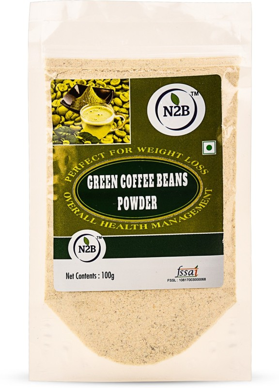 N2B 100g 100% Natural And Unroasted Green Coffee Beans Powder Instant Coffee(100 g, Green Coffee Flavoured)