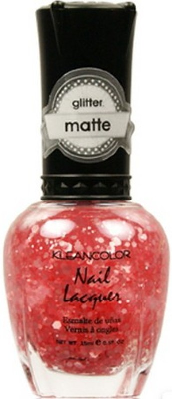 KleanColor Glitter Matte Nail Lacquer Blush Pink(15 ml)