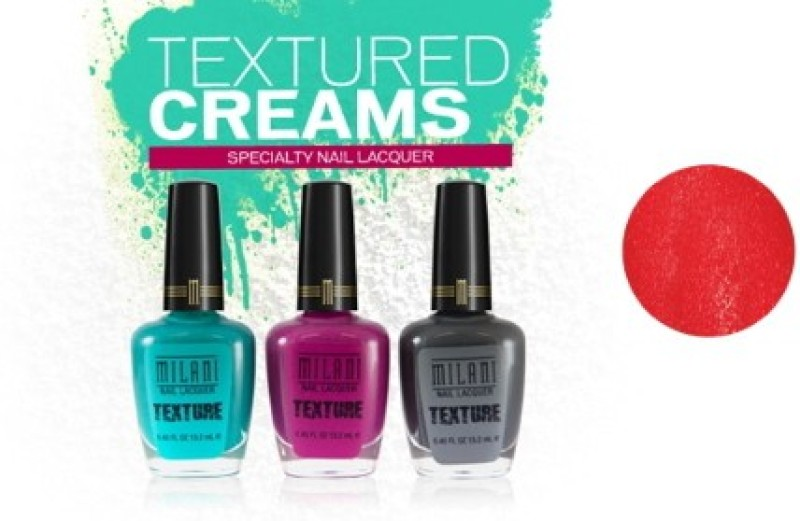 Milani Texture Creams Specialty Nail Lacquer Tanted In Red(13.2 ml)