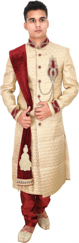 La Rainbow Embroidered Sherwani