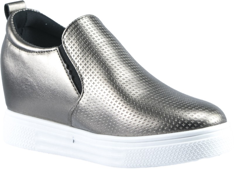 Gospel Gospel Gliter Embossed Zipper SneakersSilver