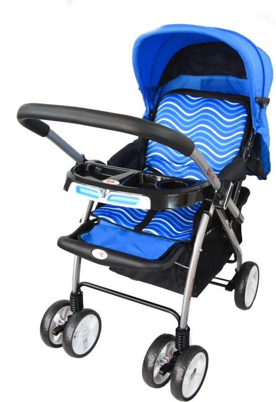 abdc kids Baby Pram & Stroller Jet Wave Blue With Reversible Handlebar Pram(Multi, Blue)