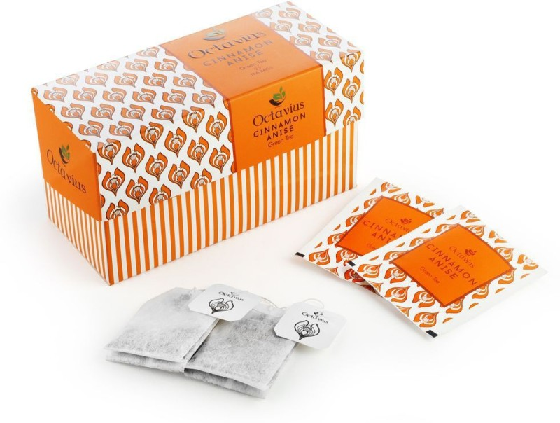 Octavius Cinnamon Anise Cinnamon Green Tea Bags(25 Bags, Box)
