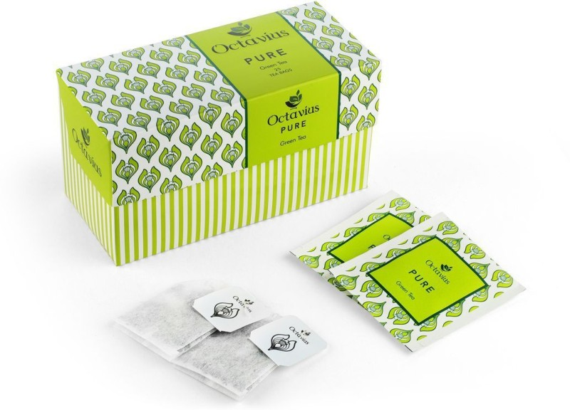 Octavius Pure Green Tea Bags(25 Bags, Box)