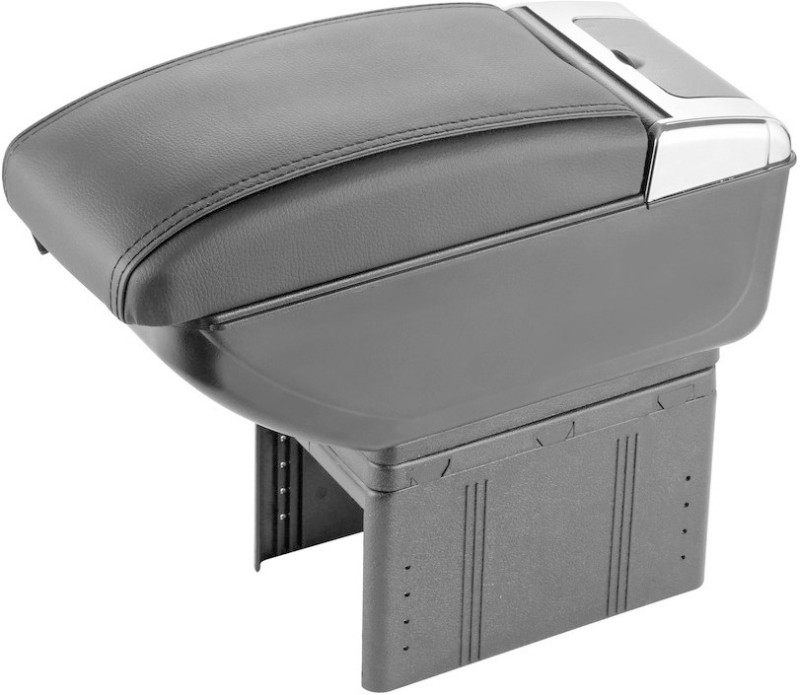 Speedwav Car Stylish Armrest with USB+Glass Holder+Ashtray Grey Car Armrest(Universal For Car, Universal For Car)