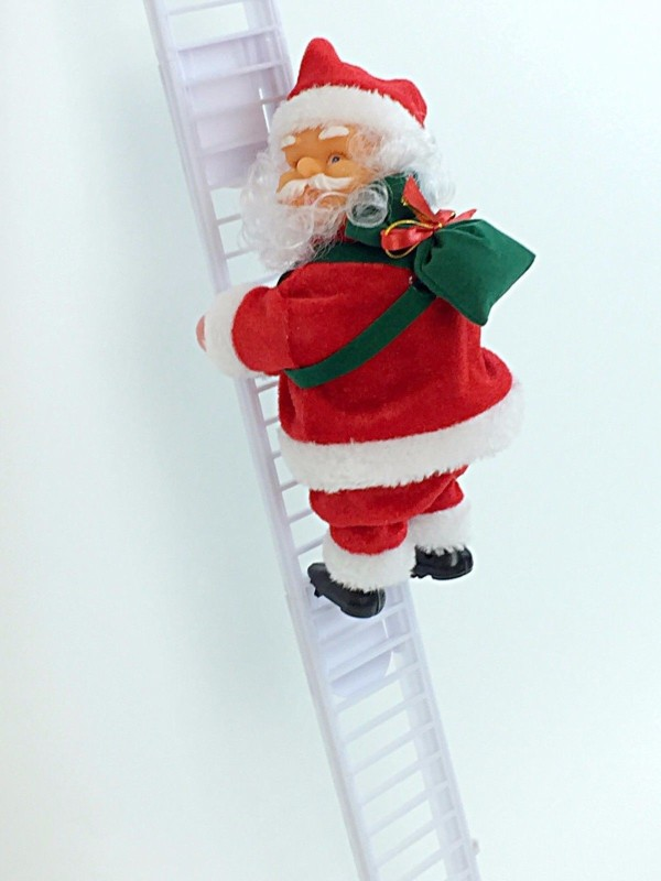 A To Z Traders Electric Christmas Santa Climbing Ladder Santa Claus Musical Xmas Santa Angel Figurine(Pack of 1)