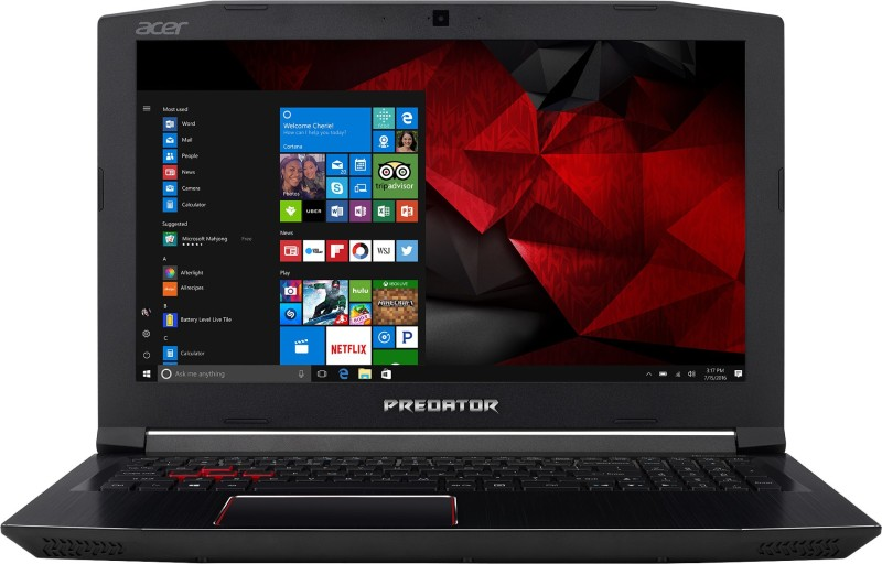 Acer Predator Helios 300 Core i7 7th Gen - (16 GB/2 TB HDD/256 GB SSD/Windows 10 Home/6 GB Graphics) G3-572 Gaming Laptop(15.6 inch, Black, 2.7 kg)