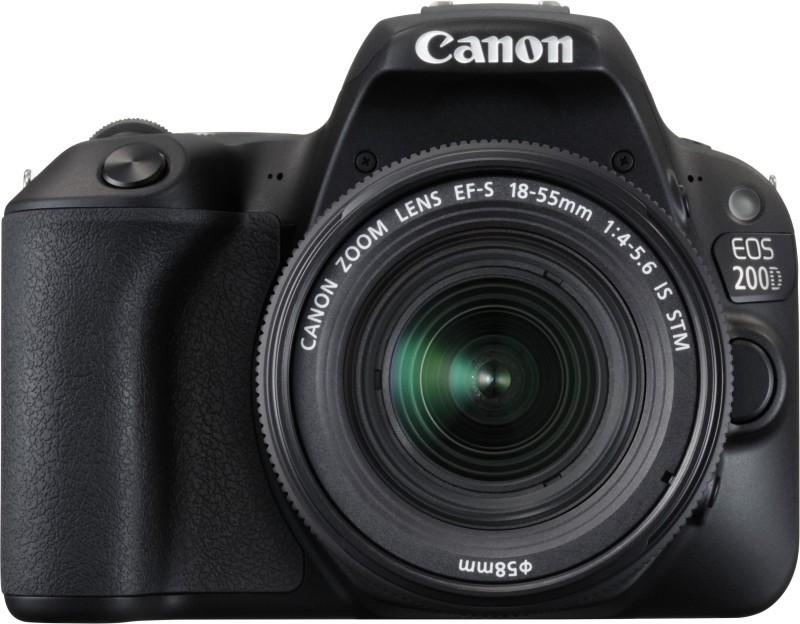 Canon EOS 200D DSLR Camera Body with Dual Lens: EF-S18-55 IS STM+ EF-S 55-250 mm IS II (16 GB SD Card + Camera Bag)(Black)