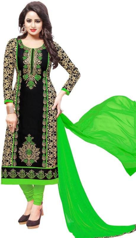 Salwar Studio Cotton Embroidered Salwar Suit Dupatta Material(Un-stitched)