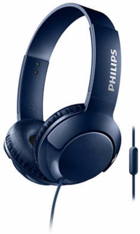 Philips SHL3075BL/00 Wired Headset with Mic(Blue, Over the Ear)