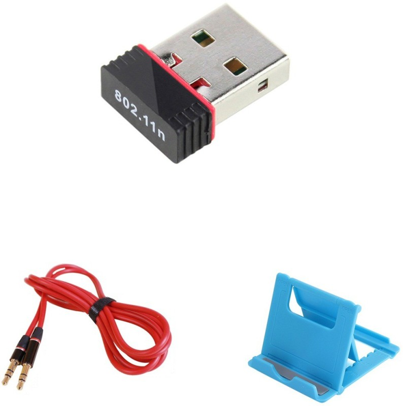 MINIFOX Aux, Fold Mobile Stand, Mini Wifi Combo Set(Multi - Text Used For: ID, Title)