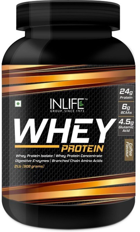 Inlife 2Lb Whey Protein(908 g, Coffee)