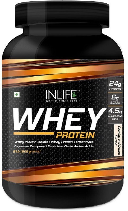 Inlife 2Lb Whey Protein(908 g, Cookies)