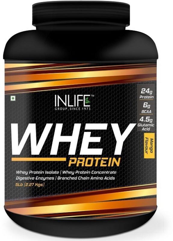 Inlife 5Lb Whey Protein(2.27 kg, Mango)